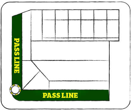 Craps Pass Line Layout