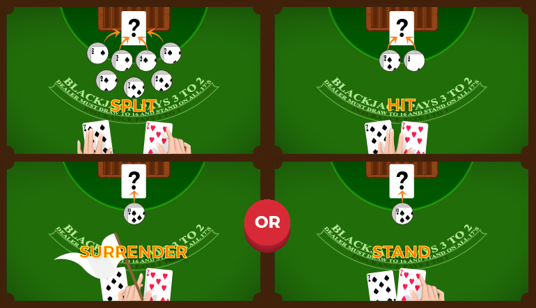 Blackjack pair of 7s - single deck playing strategy