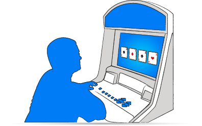 a man learn how to play video poker