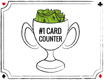 Trophy with text #1 CARD Counter