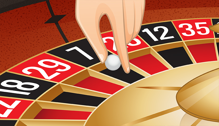 Roulette Prediction: roulette ball is heading its way to the roulette wheel from the dealer's hand
