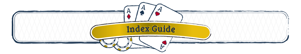 3 Card poker strategy Index Guide