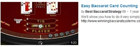 easy baccarat card counting
