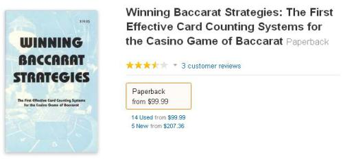 winning baccarat strategies: the first effective card counting systems for the casino games of baccarat