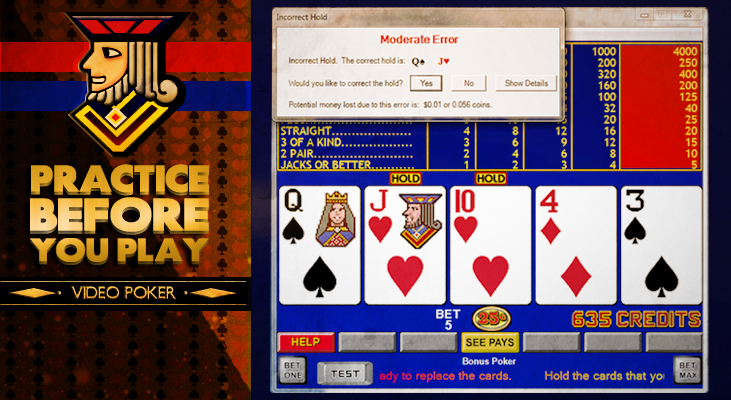 test your video poker skills