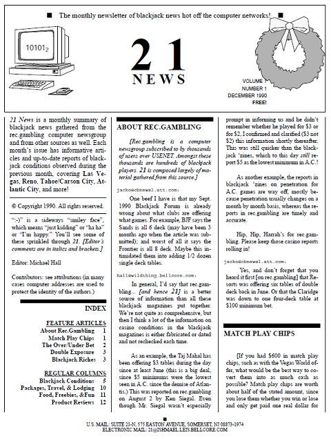 Cover of the first edition of 21 News
